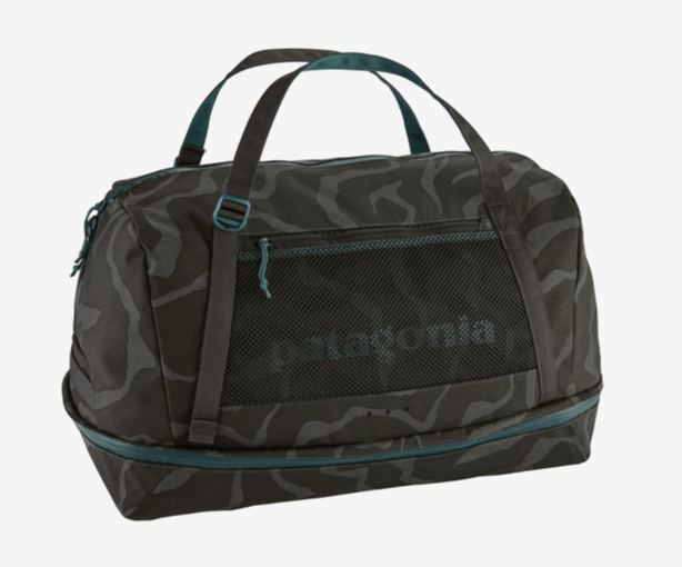 Patagonia Planing Duffel Bag 55L - Tiger Tracks Camo: Ink Black