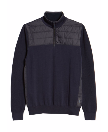 Barbour Lundy Half Zip Sweater - Navy