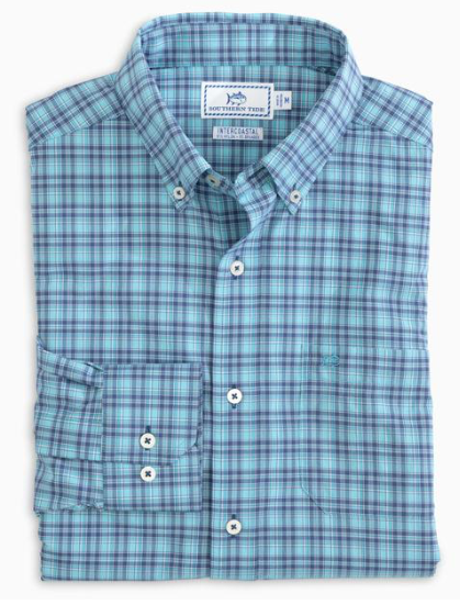 Southern Tide Arenal Plaid Intercoastal Sport Shirt - Parrotfish