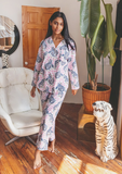 Printfresh Tiger Queen Long Set - French Rose