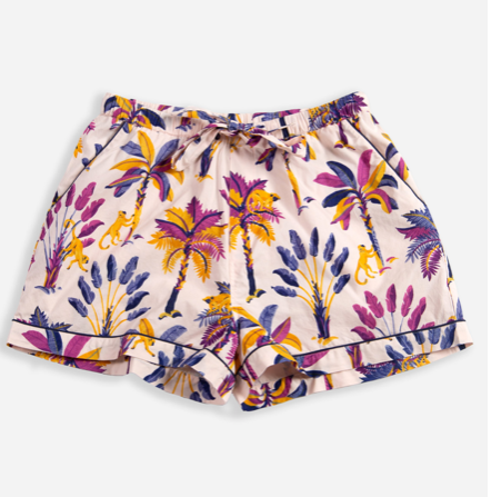 Printfresh Royal Palms Pajama Shorts - Amethyst