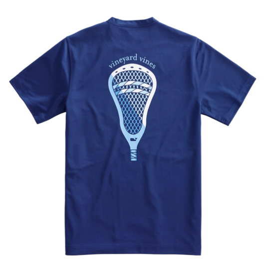 Vineyard Vines Performance Lax Scoop T-Shirt- Deep Bay