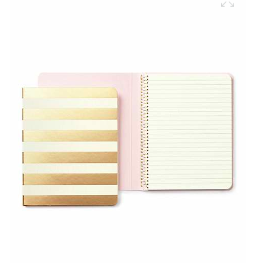 Kate Spade Gold Stripe Notebook