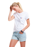Vineyard Vines Women's Patriot Whale Pocket Tee- White Cap