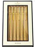 Kate Spade Strike Gold Pen Set