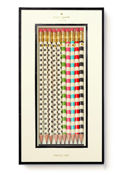 Kate Spade Pencil Set- Dot the I's