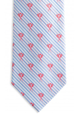 Southern Tide Lacrosse Sticks Seersucker Tie - Ocean Channel