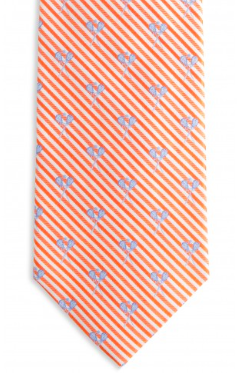 Southern Tide Lacrosse Sticks Seersucker Tie - Island Orange
