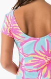 Mahi Gold Addie Dress - Let's Luau Flamingo Pink