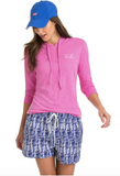 Vineyard Vines Long-Sleeve Slub Whale Hoodie Tee - Light Magenta