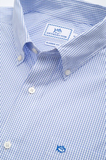 Southern Tide Watermark Tattersall Sport Shirt - Sail Blue