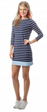 Southern Tide Coastline Stripe Knit Dress - Nautical Navy
