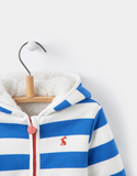 Joules Infant James Reversible Fleece - Ocean Blue Stripe