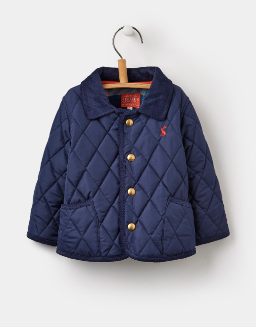 Joules Infant Milford Quilted Jacket - French Navy