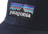 Patagonia P-6 Logo Stretch Fit Hat - Navy Blue