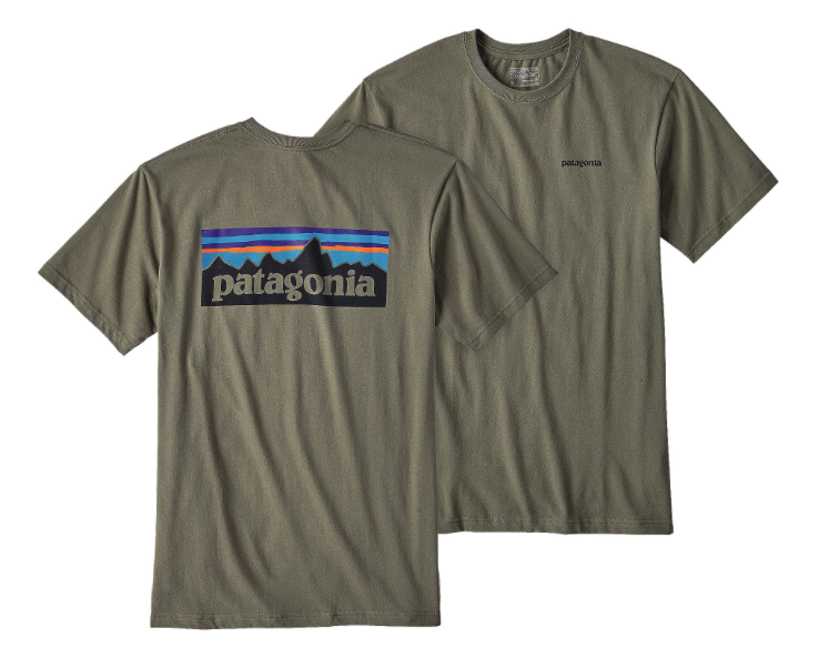 Patagonia Men's P-6 Logo Cotton T-Shirt - Industrial Green