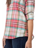 Southern Tide Mountain Plaid Hadley Popover - Marshmallow