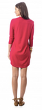 Southern Tide Around Town Dress - Cranberry