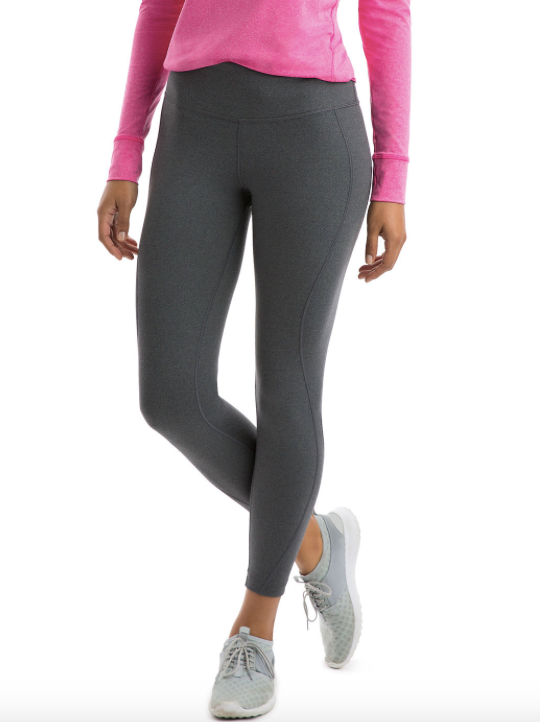 Vineyard Vines Solid Heather Performance Leggings - Gray Heather