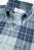 Southern Tide Peachtree Rock Plaid Sport Shirt - Tsunami Grey