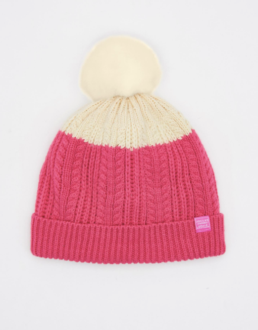 Joules Bobble Hat - True Pink