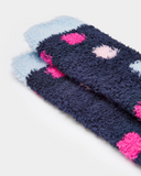 Joules Girls Fluffy Socks - French Navy