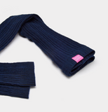 Joules Girls Lulu Cable Knit Leggings - French Navy