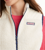 Vineyard Vines Quilted Sherpa Vest - Frost