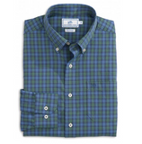 Southern Tide Drayton Hall Plaid Intercoastal Performance Shirt - True Navy