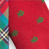 Southern Tide Carolina Tartan Tie - Red & Green