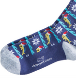 Vineyard Vines Mahi Christmas Socks - Moonshine