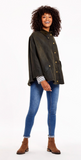 Joules Glamis Wax Cape - Olive
