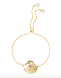 Lilly Pulitzer Charming Shell Bracelet - Gold Metallic