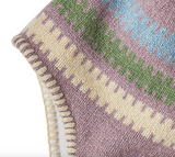 Patagonia Kids' Woolly Hat - Ladder Stripe Light Violet