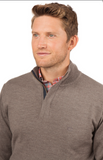 Southern Tide Skipper 1/4 Zip Sweater - Driftwood
