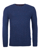 Barbour Essential Cable Crew Sweater - Indigo