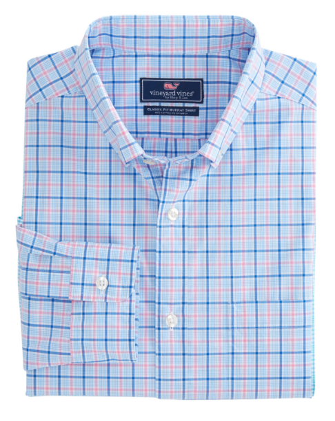Vineyard Vines Sir Christie Check Classic Stretch Murray Shirt - Spinnaker