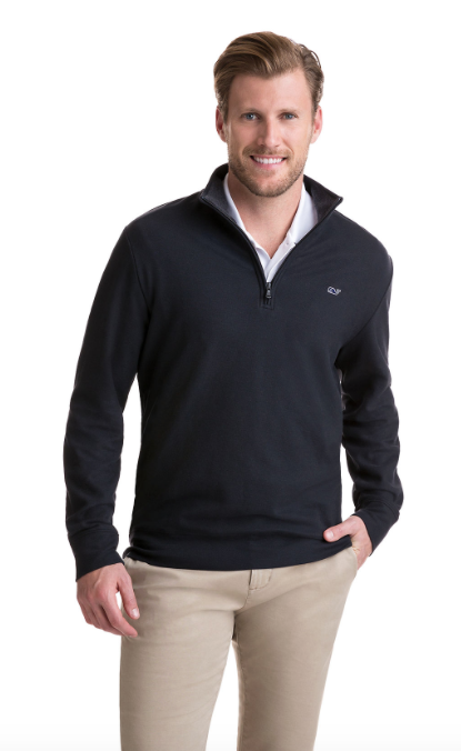 Vineyard Vines Saltwater 1/4-Zip - Black