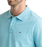 Vineyard Vines Stretch Pique Heather Polo - Turqs