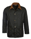 Barbour Lightweight Ashby Wax Jacket - Dark Olive