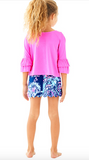 Lilly Pulitzer Girls Mazie Top - Raz Berry