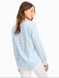 Southern Tide Samantha Popover - Ocean Channel
