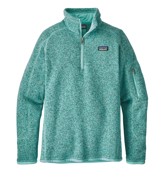 Patagonia Girls' Better Sweater® 1/4-Zip Fleece - Bend Blue