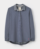Joules Tenby Sweat Deckshirt - French Navy Stripe