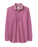 Joules Tenby Sweat Deckshirt - Ruby Stripe