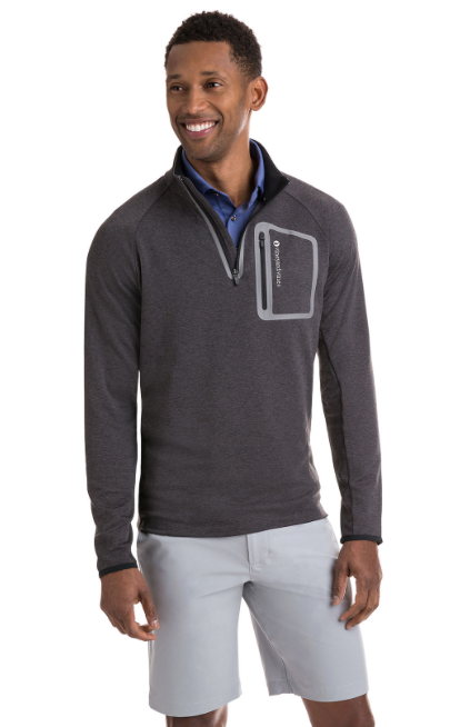 Vineyard Vines Performance Mesh 1 4-Zip - Jet Black  ca48aca06aef