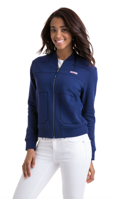 Vineyard Vines Reversible Bomber Full-Zip Shep Shirt - Deep Bay