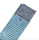 Vineyard Vines Men's Fine Stripe Socks - Capri Blue