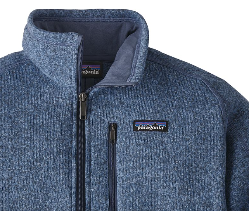Patagonia Mens Better Sweater 14 Zip Fleece Railroad Blue