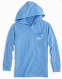 Southern Tide Kids' SUP Long Sleeve Hoodie T-Shirt - Ocean Channel